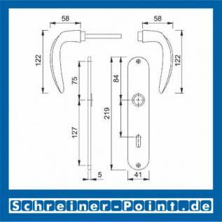 Hoppe Atlanta Messing poliert F71 Langschildgarnitur M1530/302, 2804053, 2132269, 2804096, 2804133, 2132293, 2804395 - Vorschau 2