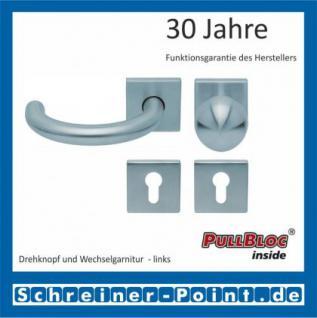 Scoop Baloo quadrat PullBloc Quadratrosettengarnitur, Rosette Edelstahl matt - Vorschau 5