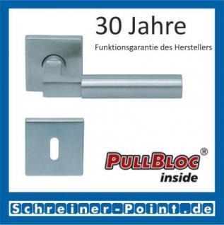 Scoop Bauhaus quadrat PullBloc Quadratrosettengarnitur, Rosette Edelstahl matt!