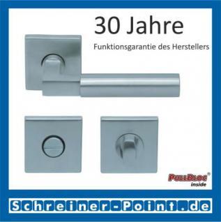 Scoop Bauhaus quadrat PullBloc Quadratrosettengarnitur, Rosette Edelstahl matt! - Vorschau 3