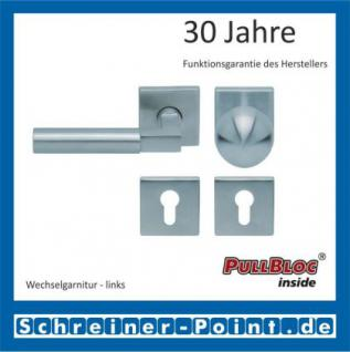 Scoop Bauhaus quadrat PullBloc Quadratrosettengarnitur, Rosette Edelstahl matt! - Vorschau 5