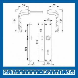 Hoppe Birmingham Aluminium Langschildgarnitur F1 Natur 1117/202SP, 2533847, 2533978, 2534014, 2534006, 3102571, 3102627, 2534014, 2534006 - Vorschau 2