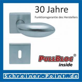 Scoop Boby quadrat PullBloc Quadratrosettengarnitur, Rosette Edelstahl matt