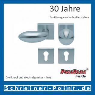 Scoop Boby quadrat PullBloc Quadratrosettengarnitur, Rosette Edelstahl matt - Vorschau 5