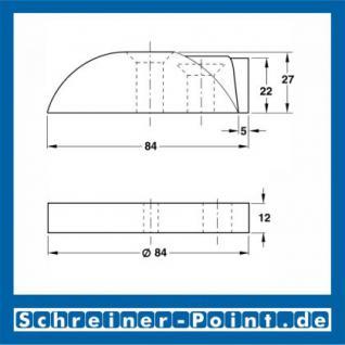 Edelstahl Türstopper Türpuffer Bodentürpuffer Edelstahl matt 84 mm mit und ohne Fußplatte - Vorschau 2