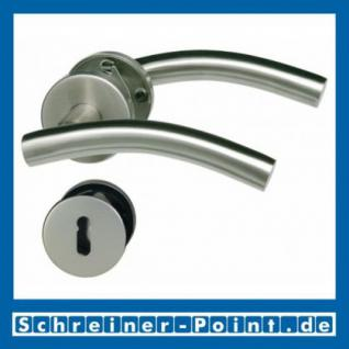 CN-Form Edelstahl Rosettengarnitur auf Metall-Unterrosette