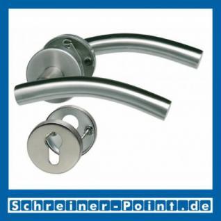 CN-Form Edelstahl Rosettengarnitur auf Metall-Unterrosette - Vorschau 2