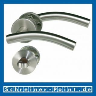 CN-Form Edelstahl Rosettengarnitur auf Metall-Unterrosette - Vorschau 3