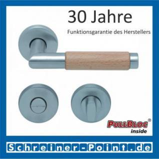 Scoop Chiara Holz PullBloc Rundrosettengarnitur Edelstahl matt/Buche/Eiche/Merbau, Rosette Edelstahl matt - Vorschau 3