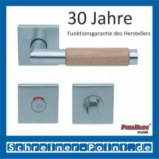 Scoop Chiara Holz quadrat PullBloc Quadratrosettengarnitur Edelstahl matt/Buche/Eiche/Merbau, Rosette Edelstahl matt - Vorschau 4