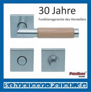 Scoop Chiara Holz quadrat PullBloc Quadratrosettengarnitur Edelstahl matt/Buche/Eiche/Merbau, Rosette Edelstahl matt - Vorschau 3