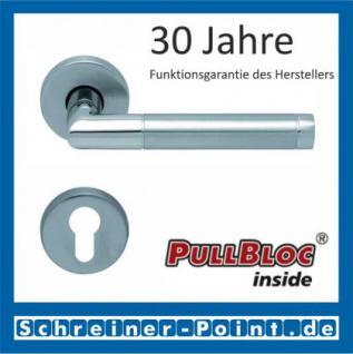 Scoop Chiara PullBloc Rundrosettengarnitur Edelstahl poliert / Edelstahl matt, Rosette Edelstahl matt - Vorschau 2