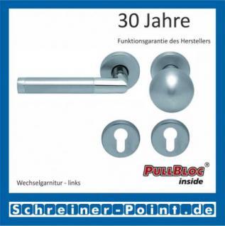 Scoop Chiara PullBloc Rundrosettengarnitur Edelstahl poliert / Edelstahl matt, Rosette Edelstahl matt - Vorschau 5