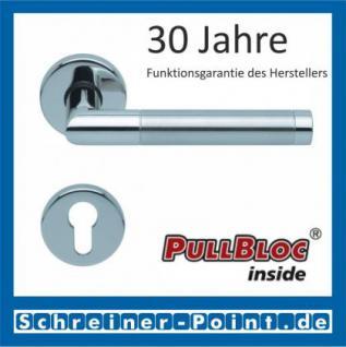 Scoop Chiara PullBloc Rundrosettengarnitur Edelstahl poliert / Edelstahl matt, Rosette Edelstahl poliert - Vorschau 2