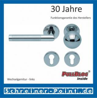 Scoop Chiara PullBloc Rundrosettengarnitur Edelstahl poliert / Edelstahl matt, Rosette Edelstahl poliert - Vorschau 5