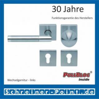 Scoop Chiara quadrat PullBloc Quadratrosettengarnitur, Edelstahl poliert/Edelstahl matt, Rosette Edelstahl matt - Vorschau 5