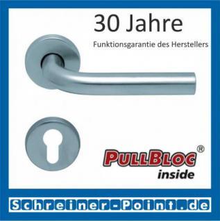 Scoop Duo PullBloc Rundrosettengarnitur, Edelstahl poliert/Edelstahl matt, Rosette Edelstahl matt - Vorschau 2