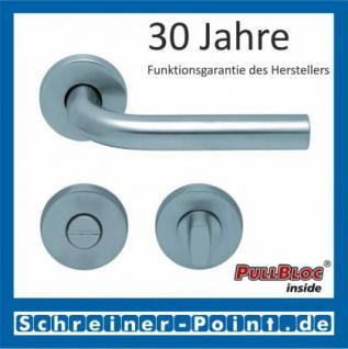 Scoop Duo PullBloc Rundrosettengarnitur, Edelstahl poliert/Edelstahl matt, Rosette Edelstahl matt - Vorschau 3