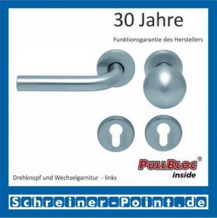 Scoop Duo PullBloc Rundrosettengarnitur, Edelstahl poliert/Edelstahl matt, Rosette Edelstahl matt - Vorschau 5