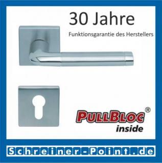 Scoop Duo quadrat PullBloc Quadratrosettengarnitur, Edelstahl poliert/Edelstahl matt, Rosette Edelstahl matt - Vorschau 2