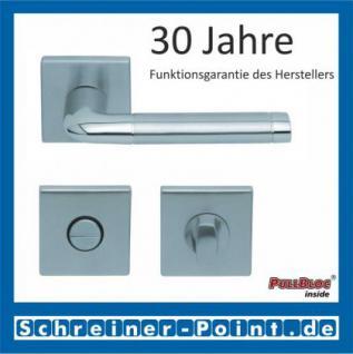 Scoop Duo quadrat PullBloc Quadratrosettengarnitur, Edelstahl poliert/Edelstahl matt, Rosette Edelstahl matt - Vorschau 3