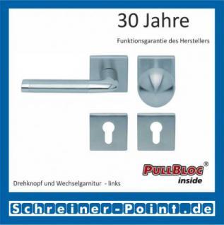 Scoop Duo quadrat PullBloc Quadratrosettengarnitur, Edelstahl poliert/Edelstahl matt, Rosette Edelstahl matt - Vorschau 5