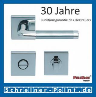 Scoop Duo quadrat PullBloc Quadratrosettengarnitur, Edelstahl poliert/Edelstahl matt, Rosette Edelstahl poliert - Vorschau 3