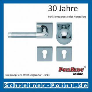 Scoop Duo quadrat PullBloc Quadratrosettengarnitur, Edelstahl poliert/Edelstahl matt, Rosette Edelstahl poliert - Vorschau 5