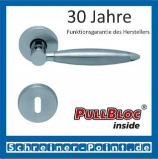 Scoop Elyps PullBloc Rundrosettengarnitur, Rosette Edelstahl matt