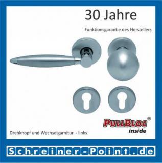 Scoop Elyps PullBloc Rundrosettengarnitur, Rosette Edelstahl matt - Vorschau 5