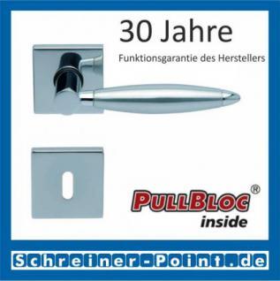 Scoop Elyps quadrat PullBloc Quadratrosettengarnitur, Rosette Edelstahl poliert