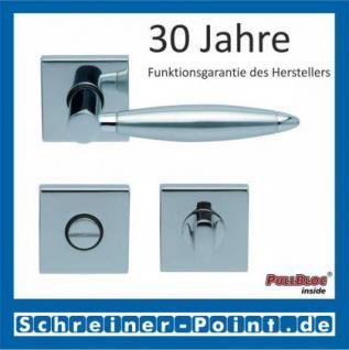 Scoop Elyps quadrat PullBloc Quadratrosettengarnitur, Rosette Edelstahl poliert - Vorschau 3
