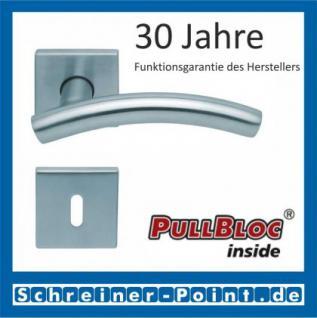 Scoop Fabo quadrat PullBloc Quadratrosettengarnitur, Rosette Edelstahl matt