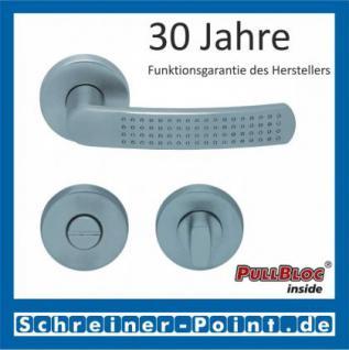 Scoop Fantasia PullBloc Rundrosettengarnitur nickelmatt, Rosette Edelstahl matt - Vorschau 3
