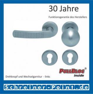 Scoop Fantasia PullBloc Rundrosettengarnitur nickelmatt, Rosette Edelstahl matt - Vorschau 5