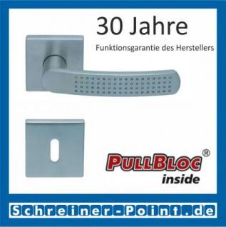 Scoop Fantasia quadrat PullBloc Quadratrosettengarnitur nickelmatt, Rosette Edelstahl matt