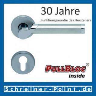 Scoop Fina II PullBloc Rundrosettengarnitur, Edelstahl poliert/Edelstahl matt, Rosette Edelstahl matt - Vorschau 2