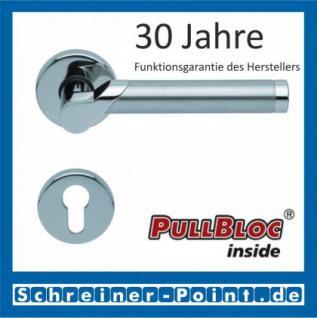 Scoop Fina II PullBloc Rundrosettengarnitur, Edelstahl poliert/Edelstahl matt, Rosette Edelstahl poliert - Vorschau 2