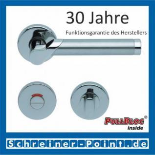Scoop Fina II PullBloc Rundrosettengarnitur, Edelstahl poliert/Edelstahl matt, Rosette Edelstahl poliert - Vorschau 4