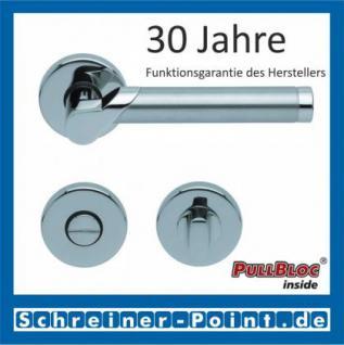 Scoop Fina II PullBloc Rundrosettengarnitur, Edelstahl poliert/Edelstahl matt, Rosette Edelstahl poliert - Vorschau 3