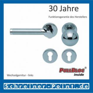 Scoop Fina II PullBloc Rundrosettengarnitur, Edelstahl poliert/Edelstahl matt, Rosette Edelstahl poliert - Vorschau 5