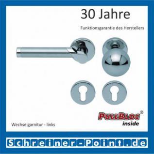 Scoop Fina PullBloc Rundrosettengarnitur, verchromt / Edelstahl matt, Rosette Edelstahl poliert - Vorschau 5