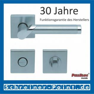 Scoop Fina II quadrat PullBloc Quadratrosettengarnitur, Edelstahl poliert/Edelstahl matt, Rosette Edelstahl matt - Vorschau 3