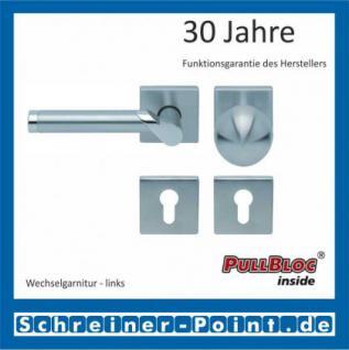 Scoop Fina II quadrat PullBloc Quadratrosettengarnitur, Edelstahl poliert/Edelstahl matt, Rosette Edelstahl matt - Vorschau 5