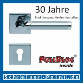 Scoop Fina II quadrat PullBloc Quadratrosettengarnitur, Edelstahl poliert/Edelstahl matt, Rosette Edelstahl poliert - Vorschau 2