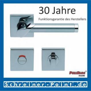 Scoop Fina II quadrat PullBloc Quadratrosettengarnitur, Edelstahl poliert/Edelstahl matt, Rosette Edelstahl poliert - Vorschau 4
