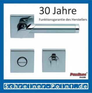 Scoop Fina II quadrat PullBloc Quadratrosettengarnitur, Edelstahl poliert/Edelstahl matt, Rosette Edelstahl poliert - Vorschau 3