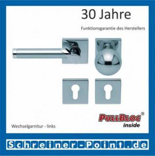 Scoop Fina II quadrat PullBloc Quadratrosettengarnitur, Edelstahl poliert/Edelstahl matt, Rosette Edelstahl poliert - Vorschau 5
