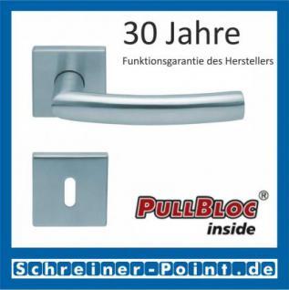 Scoop Geo quadrat PullBloc Quadratrosettengarnitur, Rosette Edelstahl matt