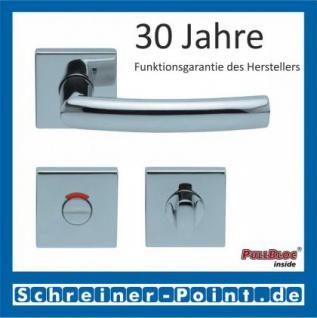 Scoop Geo quadrat PullBloc Quadratrosettengarnitur, Rosette Edelstahl poliert - Vorschau 4